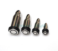 Wholesale 316l Stainless Steel Ear Taper Bullet Ear Expander Cool Body Piercing Jewelry Men s Jewelry Plugs