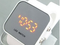 Wholesale Luxury LED Watch Digital Display Mirror Mens Screen Silicone Sport Unisex Women s Watches