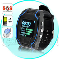 Wholesale Quad band Wrist Watch Cell phone with SOS Button and GPS Tracker Inch LCD Screen cellphone GPS Watch