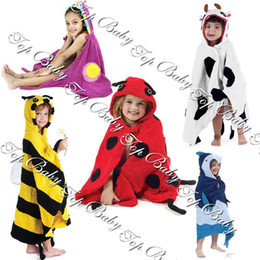 Wholesale Factory Saler TOP BABY Cartoon Swim Bathrobe Girls Robes Delling Wacky Kids Swim Towel For T S M