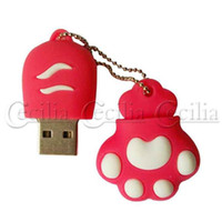 Wholesale cat claw USB Flash Disk Brown Pen Driver Storge Accessory GB CN101378
