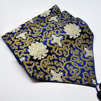 beautiful runners - Beautiful Chinese Navy Blue Damask Table Runner For Coffee Table Long Table Cloth Decorative Bed Runners size L200 x W cm Free