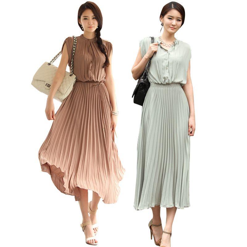 Bohemian dress women's long dress fashion dress sleeveless dress