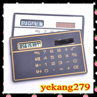 Wholesale 10pcs NEW solar ultra thin calculator MINI card calculator portable office