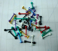 Wholesale 50pcs G Titanium Anodized Ball Lip Ring Labret Rings Ear Bone Stud Body Piercing Jewelry