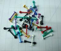 Wholesale Mix G Titanium Anodized Ball Lip Ring Labret Rings Ear Bone Stud Body Piercing Jewelry