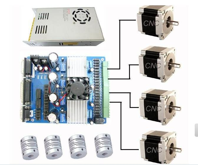 4 axis tb6560 driver nema 23 stepper motor cnc kit for 4 amp stepper motor driver