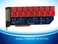Wholesale TDM1600P asterisk card FXO ports for VOIP PBX IP PBX IPPBX IP phone ipphone support dahdi driver
