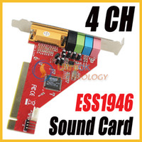 Wholesale 4 channel PCI D Music Sound Card Soundcard with ESS1946 Chipset