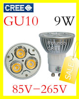 Wholesale DHL FREE GU10 W W CREE High power LED Spot Light Bulb Spotlight spot lamp v v v