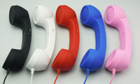 Wholesale 10pcs Newest retro reduce radiation Phone Handset for s g with volume control BY EMS
