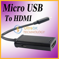 Wholesale Micro USB MHL to HDMI HDTV Adapter Cable for HTC SAMSUNG Smart Phone