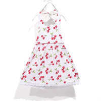 Wholesale Children dress Girls cherry halter dress top grade