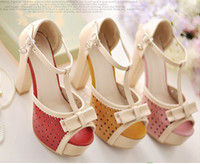 Wholesale Sexy Exquisite T strap CM High Platform CM Heel Summer Sandals