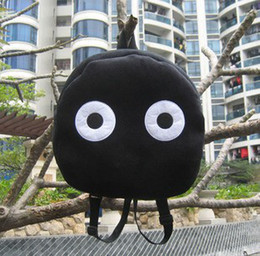 Wholesale Black Totoro elves coal briquettes Rilakkuma plush cartoon bag shoulderbag backpack kids schoolbag