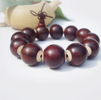 Wholesale Rosewood carving sandalwood beads inlaid with cow bone pieces mm bracelet