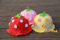 Girl autumn berries - 12 Lovely baby strawberry hats berries Sun hat cute baby topee kid s sunbonnet