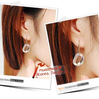 Wholesale 12PAIRS Korea Super Beautiful Charming Crystal Clear Earring Great Gift For Girl Ladies Clear Earrings