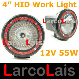 Wholesale 2PCS quot W V WD HID Xenon Spot Flood Work Light Vehicles Driving SUV ATV Offroad White