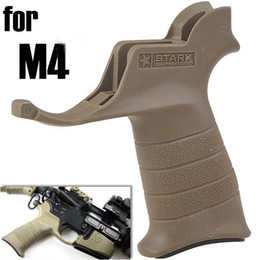 Wholesale Tactical Hard Plastic Handle Grip Replacement Pistol Grip Weapon Assembly for M4 khaki