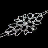Wholesale In stock Rhinestone bridal Hairband also can use as garter belt Evening Prom Party wedding dress Crystal strap