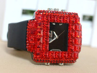 Wholesale 2012NEW STYLE RED Korean fashion diamond women decorated watches full diamond women s watches