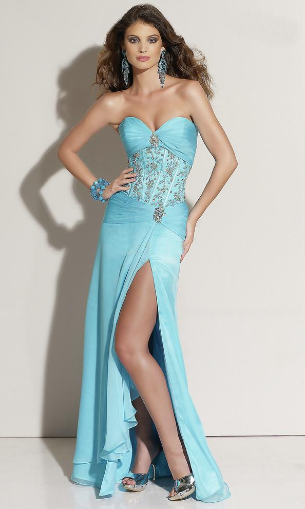 Bustier Long Prom Dress Corset Long Prom Dresses