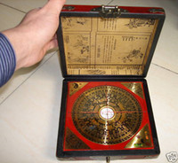 Wholesale Chinese Feng Shui compass with dragon wooden box