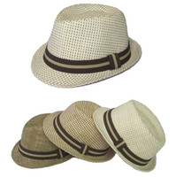 Wholesale Children s Fedora Straw Fedora Hats Caps Hats Fedoras Hat For Kids Boy s Summer Fedoras Cap Headgea