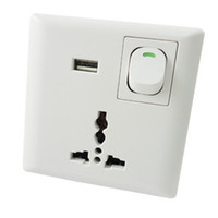 Wholesale Wholesae Piece New Home Wall Power Supply USB Socket Switch With USB Port Interface