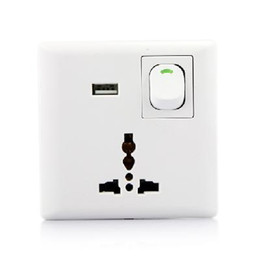 Wholesale Wholesae Pieces New Home Wall Power Supply USB Socket Switch With USB Port Interface
