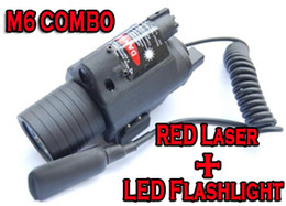Tactical M6 Combo Sight LED Flashlight & Red Laser Sight with Cree Led Torch