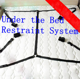 Wholesale Under the Bed Restraint System Furry Wrist Ankle Rest Belt Handcuff Turn bed bondage Playground