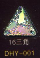Wholesale Resin diamond flatback resin stone mm triangle hole AB white