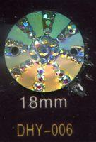 Wholesale fashion accessories Resin diamond resin stone mm round hole AB white