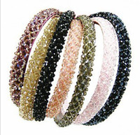 Wholesale Korean Fishing line hand made wide crystal hair bands headdress headbands hair accessories
