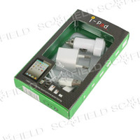 Wholesale 3 In IPad2 iPad3 Charger amp Car Charger USB Charger amp Data Cable Kit For G iPad iPhone S