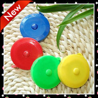 Wholesale 24pcs DIY Retractable tape measures MINI plastic soft Ruler cm length mix colors
