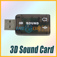 Wholesale NEW CH USB D Audio Sound Card Adapter for PC Notebook