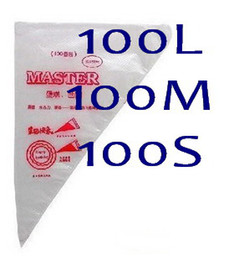 100L+100M+100 S Size Cake extrusion platic Bags decorating supplies Cake Pastry Decorating Bags