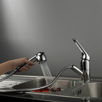 Distinctive Chromium Finish Brass Kitchen Faucet with Cerami...