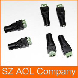 Wholesale 5 mm Female CCTV UTP Power Plug Adapter Cable DC AC Camera Video Balun Connector