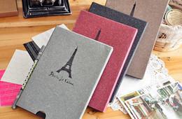 Wholesale Tower Eiffel Paris vintage Antique DIY PHOTO ALBUM Scrapbook Paper Crafts for baby wedding picture