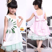 Wholesale girls dress kids birthday dresses children princess party short gown