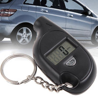 Wholesale Portable Mini LCD Digital Tyre Tire Pressure Gauge Tester with Key Ring