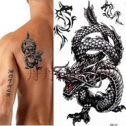 Wholesale Custom Tatoo Designs Chinese Fashion Dragon Tatoo Stickers For Men Mixed order