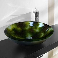 Tempered Glass Bathroom Basin with Round Shape (T19mm, D420m...