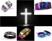 Men's bible colors - No Allergy Jewelry Rings Bible Rings Male Size Cross Stainless Steel Ring colors width mm