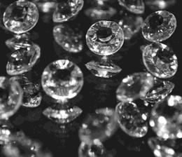 1000pcs / bag de fiesta de la boda de diamante de 10 mm 4CT claras dispersión de la tabla de cristal Confeti Decoración Gems escoger color