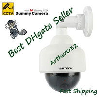 Wholesale Lowest Price Dummy Decoy Dome Security CCTV Camera with Red Blinking LED